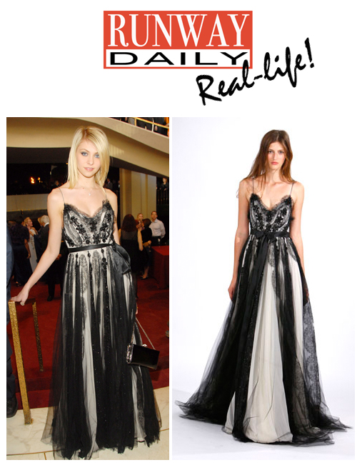 Taylor momsen and oxana pautova in same marchesa gown