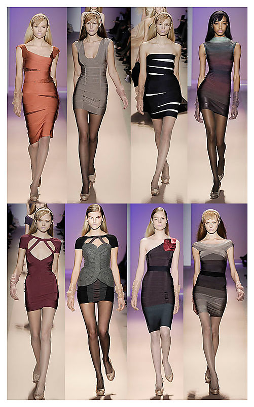 Hervé Légér Bandage dress on the Fall 2008 Runway