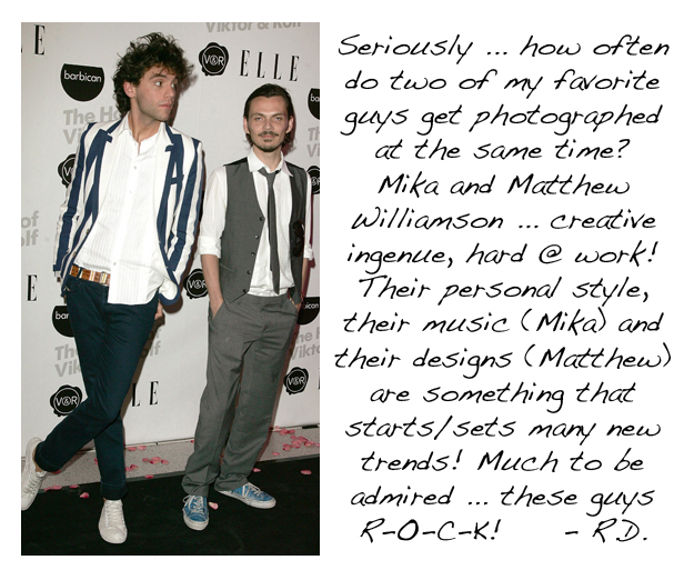 Mika and Matthew Williamson