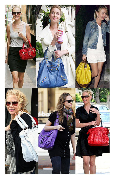 Celebs with bright summer bags