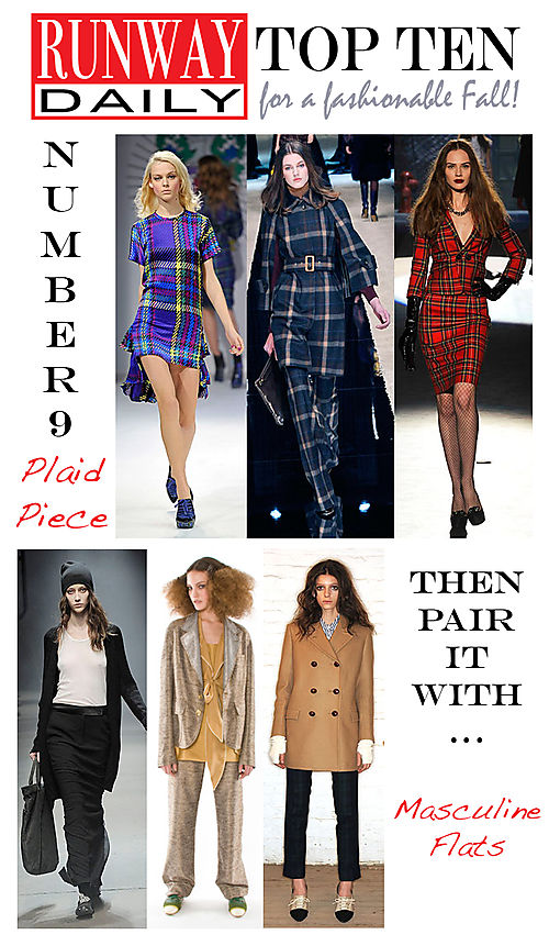 Plaid piece and masculine flats to Fall
